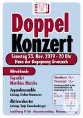 Plakat Doppelkonzert 2019